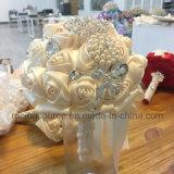 [كرم] أطلس يزهر عريس زخرفة [رهينستون] باقات زفافيّ