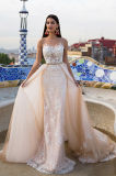 Верхняя часть Lina Шампань отклоняет платья венчания Princess Разнослоист