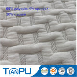 L'OEM assiste il tessuto viscoso del materasso del jacquard del poliestere del rayon