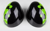 Cor verde vívida protegida UV plástica do estilo desportivo do ABS brandnew com tampas do espelho do carbono da alta qualidade para Mini Cooper R56-R61