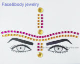 Стикер Rhinestone стикера тела 2017 стикеров глаза способа кристаллический (S001)