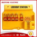 estação do fechamento da segurança do cadeado de 4 10 fechamentos