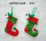 """4.5 """"Hx3"""" L Ornement d'arbre et de carte de Noël Santa et Snowman 3 Asst"""