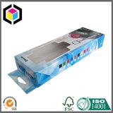 Коробка прозрачного окна бумажная упаковывая с платой Hang