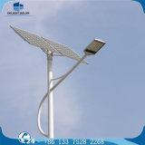 Lámpara de calle solar de fundición a presión a troquel blanca fresca de la carrocería de aluminio LED de la lámpara