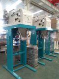Máquina de ensaque secada dos moluscos com transporte e a máquina de costura