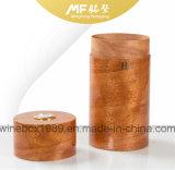 Spitzenfurnierholz-goldene zylinderförmige Zigarre-verpackengeschenk-Kasten