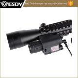 3-9X40e PUNTINO verde rosso Airsoft Riflescope con la torcia elettrica rossa di vista LED del laser M6