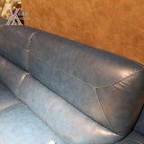 코너 블루 현대 거실 가죽 소파 (1623A)