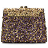 Diseño Popluar Señora Fashion Evening Crystalstone embrague Rhinestone bolso Leb754