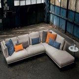 Licht auf Gewebe-Sofa, ledernes Sofa, Kaffeetisch, Fernsehapparat-Tisch, Speisetisch, Stuhl speisend, moderne Möbel