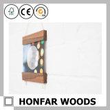 Frame rústico da foto do retrato do gancho do poster da madeira contínua