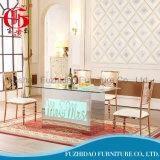 Mesa de mesa de mesa de jantar em aço inoxidável