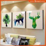 프레임 온난한 자연적인 동물성 풍광 색칠을%s 가진 선물 벽 훈장 그림