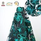 여자 의복과 Weeding를 위한 녹색 레이스 직물 자수. C10028