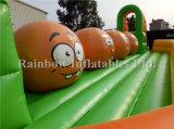 Grande Halloween gonfiabile Ballers/sfere gonfiabili di Wipeout con Pumpking affronta la corsa ad ostacoli di /Big Baller