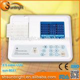 3 접촉 스크린 (일요일 8031)를 가진 채널 통신로 ECG 기계
