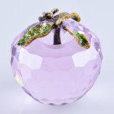 Schöne Kristallglas-Apple-Fertigkeiten für Dekoration-Geschenk