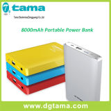 8000mAh iPhone, iPad, iPod를 위한 휴대용 이동할 수 있는 알루미늄 힘 은행,