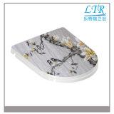 Cubierta de asiento plástica disponible no eléctrica de tocador con las bisagras de la cubierta de asiento de tocador