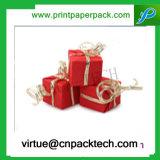 Arqueamiento de lujo del abrigo del rectángulo de papel del regalo del caramelo del festival para el presente de empaquetado