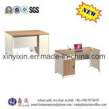 クルミカラーオフィス用家具の簡単なスタッフのパソコンの机(ST-08#)