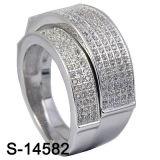 De echte Zilveren Verlovingsringen van CZ koppelen de Ring van de Band van Ringen