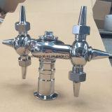 tête de jet rotatoire de tri réservoir sanitaire de la bride CIP d'acier inoxydable de 25.4mm