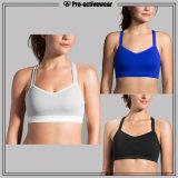 Il reggiseno di yoga personalizzato commercio all'ingrosso per forma fisica di sublimazione delle donne mette in mostra il reggiseno