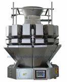 Pesador do alimento com a máquina de empacotamento vertical para bolinhos de massa