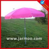 Paraguas de Sun de la playa de la publicidad de encargo con el color llano