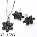 925 zilveren Geplateerd Zwart bedekt de Robijnrode Reeks van Juwelen