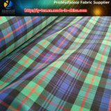 Fibra de poliéster Twill Dyed Check Spandex / Tecido Elástico Shirting para Vestuário / Calças (YD1114)