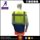 Het Vest van de Veiligheid van de Stof van de Polyester van 100% met Weerspiegelende Band