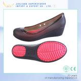 Повелительница Женщина PVC способа 4 ботинка студня пляжа сезона с пяткой