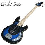 Musique de Hanhai/guitare basse électrique bleue avec 4 chaînes de caractères