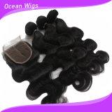 Extensões naturais do cabelo da onda do corpo da cor do cabelo humano de 100%