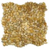 Mosaico de pedra do seixo