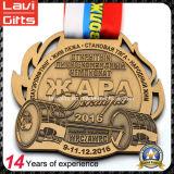 Sport su ordinazione di alta qualità che ciclano medaglia di oro antica
