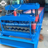 Telha vitrificada de aço colorida que faz o rolo que dá forma à máquina