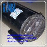 câble d'alimentation de cuivre blindé souterrain de fil d'acier de 6.35KV 11KV