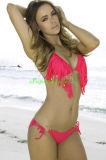 FrauenTasselled Halter-Zeichenkette-Bikini Swimwears