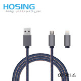 Großhandelsfabrik-Preis-Jeans-Mikro und Beleuchtung-schnelles aufladendaten-Kabel für Samung Glaxary 7 iPhone6