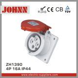 Soquete industrial de IP44 4p 16A para o painel montado