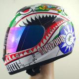 図形が付いているモーターバイクのための安全なヘルメット