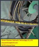 Шланг масла гидровлического шланга спирали стального провода гибкий резиновый