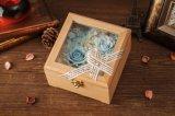 Doos van de Gift van Ivenran bewaarde de Houten Verse Bloem voor Creatieve Gift
