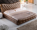 Base del re Size Button Tufted Leather di disegno moderno (HC337)