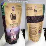 Kundenspezifischer Druck-wiederversiegelbarer stehender Kaffee-Beutel mit Ventil Y0222