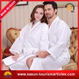 Accappatoio bianco di lusso della cialda dell'hotel con stampa su ordinazione (ES3052302AMA)